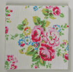 Ceramic Wall Tiles Made With Cath Kidston Spray Flowers in White